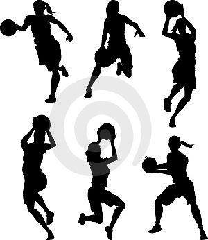 basketball-female-silhouettes