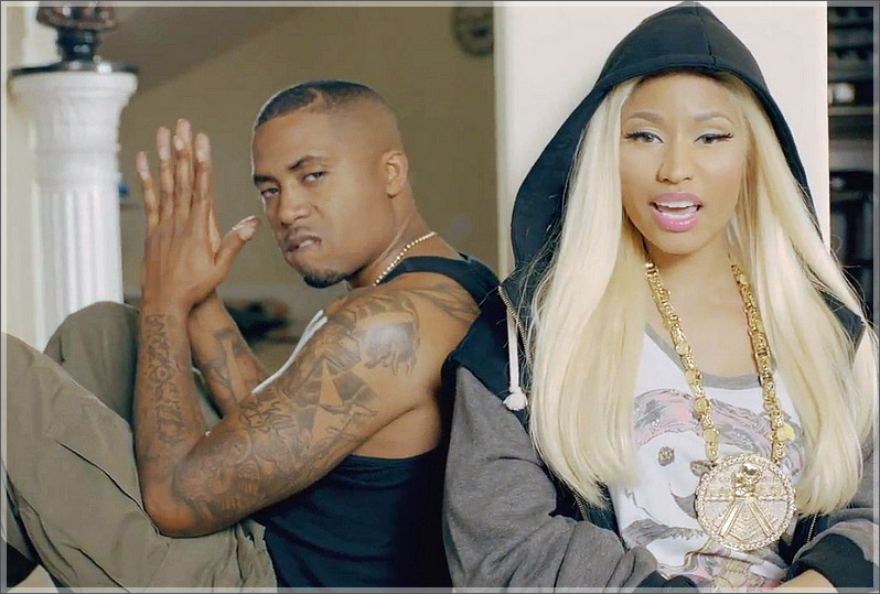 Nas-and-Nicki-Minaj-in-Right-By-Mys-Side