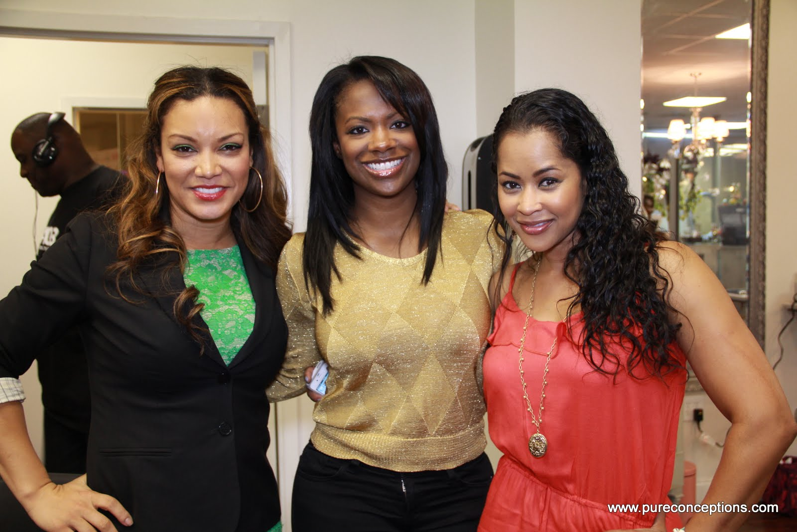 L to R:  Egypt Sherrod (V-103FM), Kandi Burruss (RHOA), & Lisa Wu (formerly of RHOA)