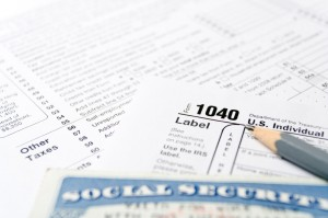 Tax forms and Social Security Card