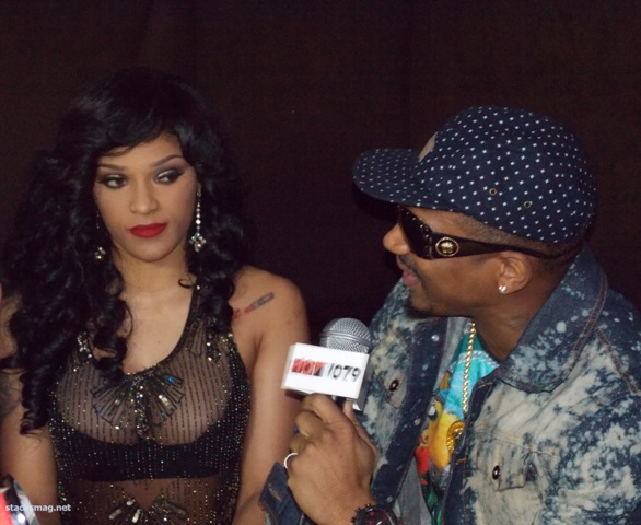 Joseline & Stevie J chopping it up with Hot 107.9FM