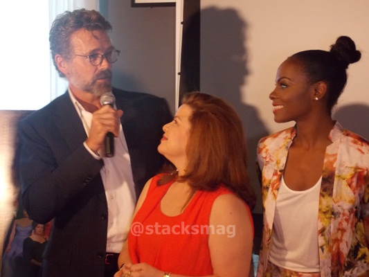 R to L:  John Schneider, Renee Lawless, & Tika Sumpter