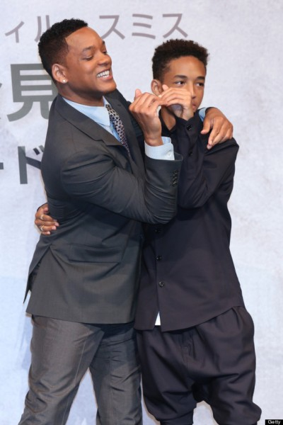 Will & Jaden Smith @ 'After Earth' Press Conference in Japan