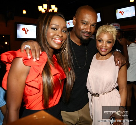 "Quad Webb-Lunceford (""Married to Medicine""), Big Tigger (V103FM), & Gocha Hawkins (Gocha Salon)"