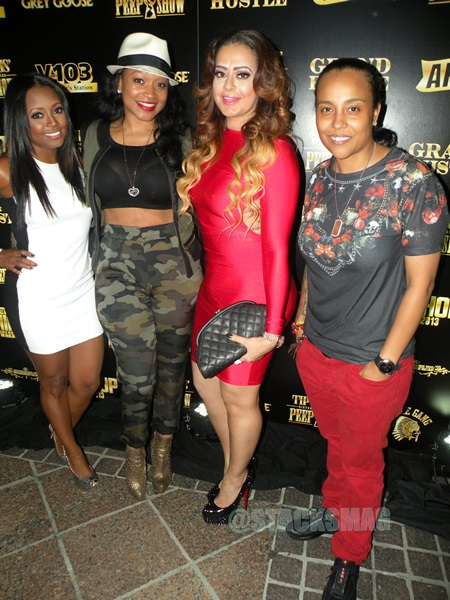 Keisha Knight-Pulliam, Monyetta Shaw, guest, & Dice