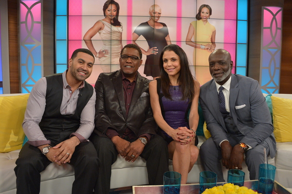 Apollo Nida, Gregg Leakes, Bethenny Frankel, and Peter Thomas (Photo Credit: Bethenny)
