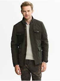 Mixed-Media Quilted Jacket - $90 (Banana Republic)