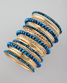 Cara 24-Peice Bangle Set, Blue - $38 (Neiman Marcus)
