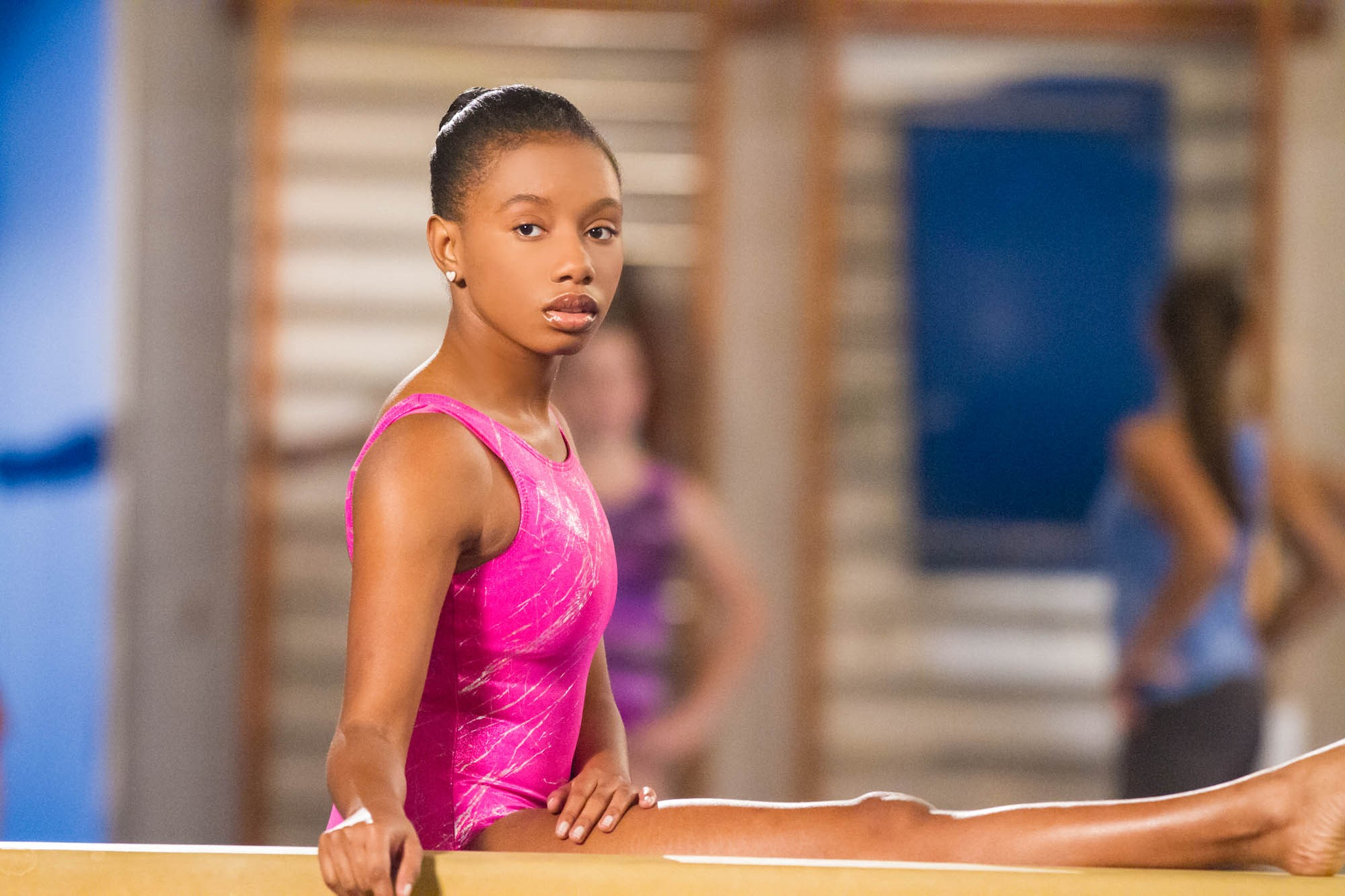 Actress, Imani Hakim portrays Gabby Douglass [Photo Credit: Lifetime Movie Network]