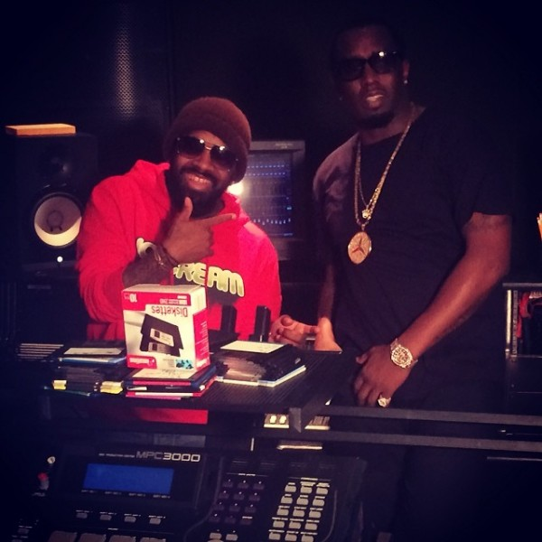 Black History ! Me x @iamdiddy working on #MMM 7:30 am and we still here #somethingspecial #somuchnewmusic @sosodef #southside @global14