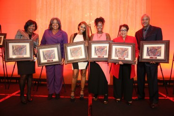 2014 BWFN Untold Stories Honorees - Kash Alexander, Jocelyn Dorsey, AJ Johnson, Crystal Fox, Deidre McDonald, Bernard Bronner