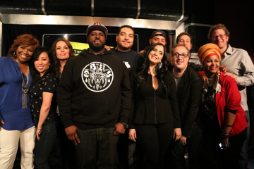 Hot  97 cast & Mona Scott-Young