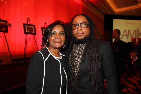 Sheryl Gripper (BWFN Founder) with son DJ Salah Ananse