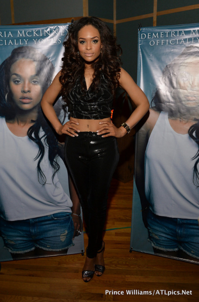 Demetria McKinney at Officially Yours Listening Party