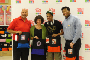 Nick Cannon Office Depot Foundation giveback