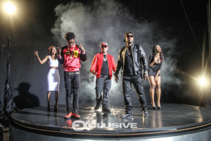 @richhomiequan @djdrama @younggjeezy  on set. (photo credit: @keepitexclusive)