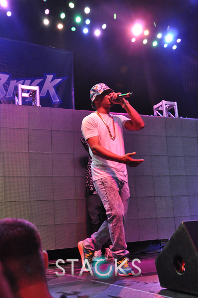 T.I. hit the stage for a special surprise performance.  (@troubleman31)