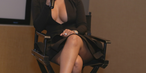 K.Michelle during Q&A.
