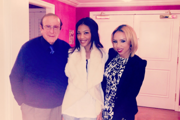 Clive Davis, Moniece, and Morgan Hardman