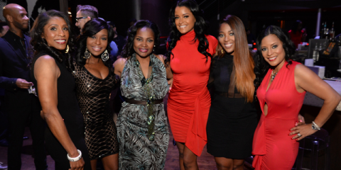 Dr. Jackie Walters, Quad Webb-Lunceford, Dr. Heavenly, Claudia Jordan, Toya Bush-Harris, and Lisa Nicole at PIQ Dating event.