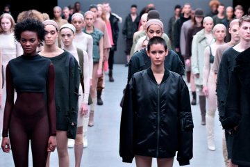 Models walk the runway at the adidas Originals x Kanye West YEEZY SEASON 1 fashion show during New York Fashion Week Fall 2015 at Skylight Clarkson Sq. [Photo: Theo Wargo/Getty Images for adidas]