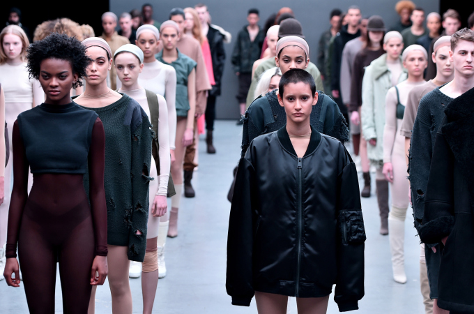 Kanye West Receives A-List Support at Adidas Fashion Show [PHOTOS ...