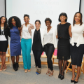 Drexina Nelson, Courtney Rhodes, Uyo Okebie, Eichelberger, Alex Davis, Dina Marto, Saptosa Foster, Shinekia Thomas, Qaadirah Abdur, Rahim Ronda, Racha Penrice at the Dream Big 2015 Summit.