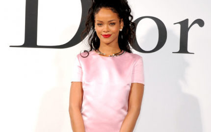 Rihanna-Pink-Satin-Dress-Diorv