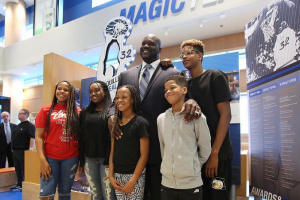 Shaq's kids came out to support him on his big day.