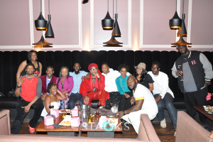 Group shot at Deleanta's ATL Media  and Tastemakers dinner at BQE Lounge.