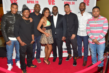 """Brotherly Love"" cast and Atlanta Mayor Kasim Reed."