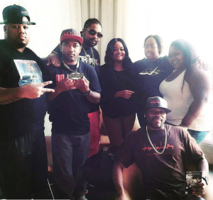 """The cast of """"The Indictment"""" along with Ms. Bels of STACKS Magazine."""