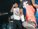 Lil Durk performing on stage at the BriskDX event.
