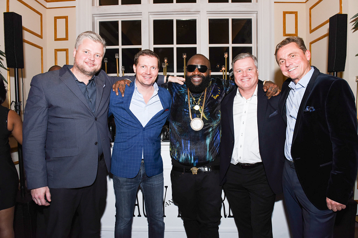 L to R: Indrek Lohmus (CEO, RICH Hair Care), Will Kurik (CCO, RICH Hair Care), Rick Ross, Erkki Lohmus (CFO, RICH Hair Care), Toivo Promm (Logistics Director, RICH Hair Care)